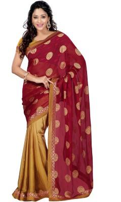 Idecore Self Design Bollywood Jacquard Sari