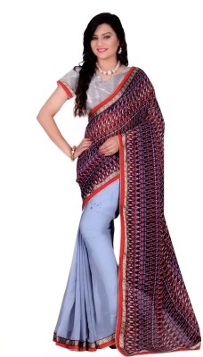 Jess Kreations Printed Daily Wear Georgette Sari