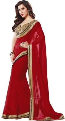 Vf Designer Self Design Fashion Georgette Sari