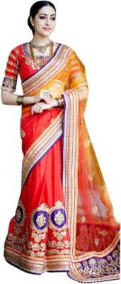 AC Creation Floral Print Fashion Pure Georgette Sari