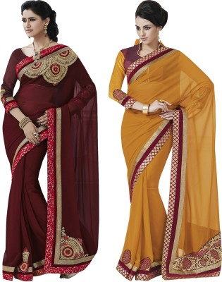 Indian Women By Bahubali Embellished Fashion Georgette Sari