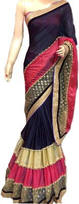 Prenea Self Design Daily Wear Pure Crepe Sari