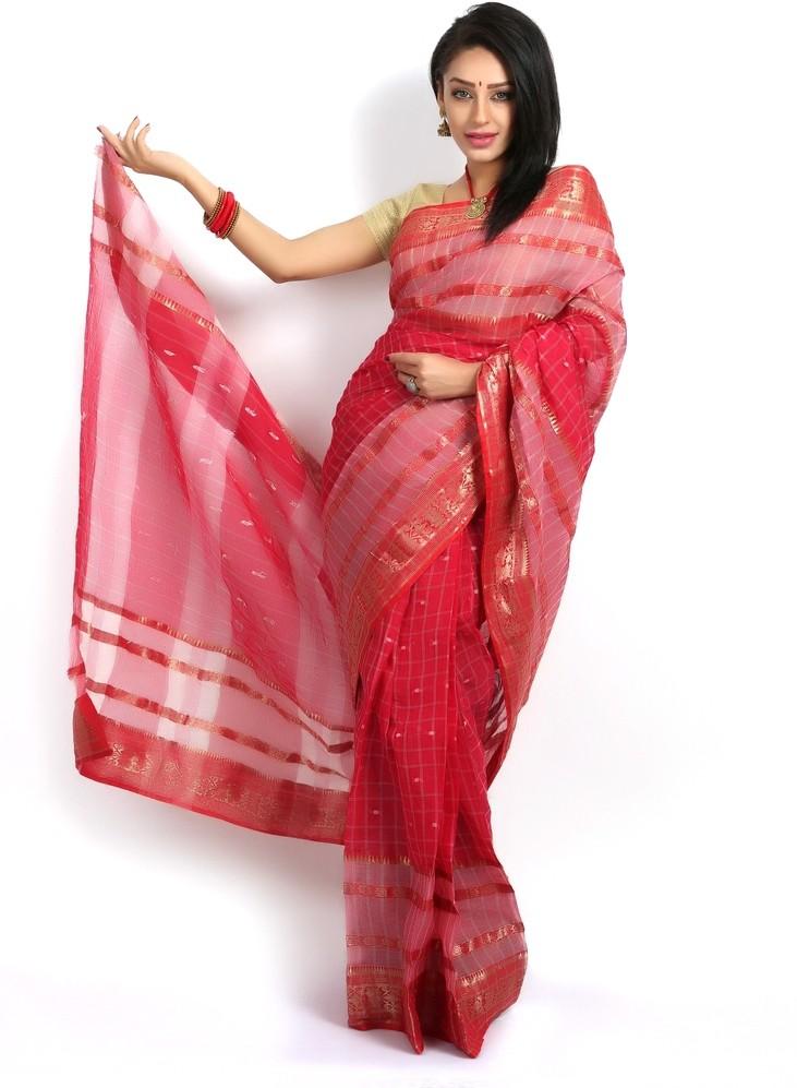 Purabi Saree Woven Tant Handloom Cotton Sari
