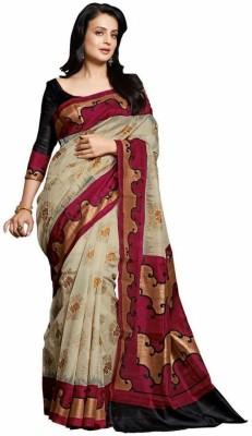 Suvidha Fashion Solid Bhagalpuri Silk Sari