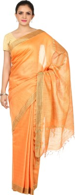 HandiweavesAndPrints Woven Maheshwari Handloom Polycotton Sari