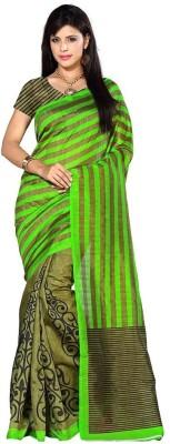 Click Geometric Print Bollywood Art Silk Sari