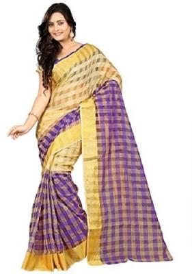 Dheera Collections Checkered Daily Wear Art Silk Sari