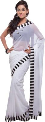 Geisha Solid Fashion Georgette Sari
