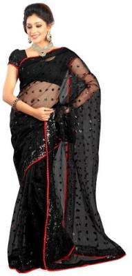 Kaali Fashion Embriodered Bollywood Net Sari