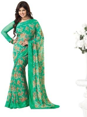 aadinathdesigner Floral Print Fashion Georgette Sari