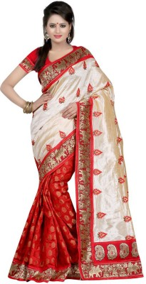 ASN Animal Print Chanderi Chanderi Sari