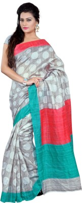 Ethnic And Style Printed Bhagalpuri Chanderi, Silk Sari