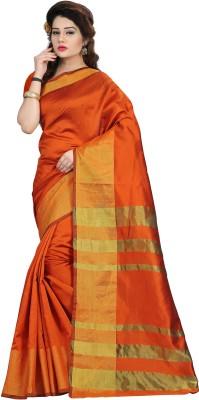 db60d014382 Samarth Fab Plain Bollywood Georgette Saree Orange Best Price in ...