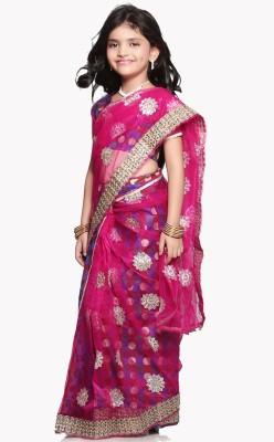 SareeGalaxy Self Design Fashion Net Sari