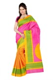 RoZiy Printed Bollywood Art Silk Sari