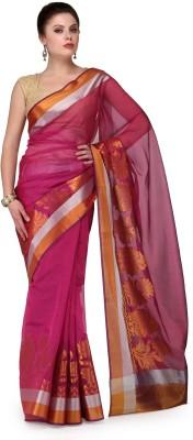Shad Banarsi Woven Banarasi Banarasi Silk Sari(Pink)