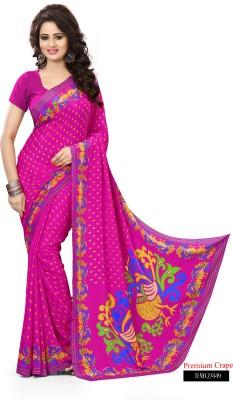 Peecaso Self Design Daily Wear Crepe Sari