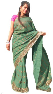 Sams Collection Embriodered Fashion Georgette Sari