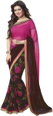 Unique fashion Printed Daily Wear Chiffon Sari