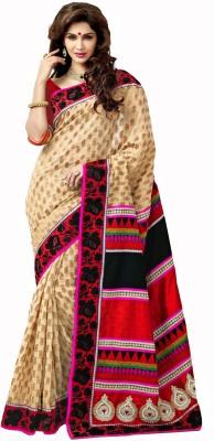Manjaree Solid, Self Design Bollywood Jacquard Sari