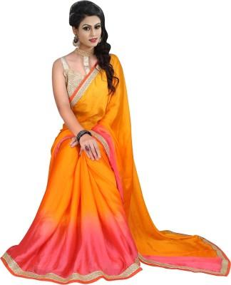 Heaven Deal Plain Fashion Chiffon Sari