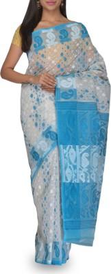 Rudraksh Embriodered Jamdani Handloom Cotton Sari
