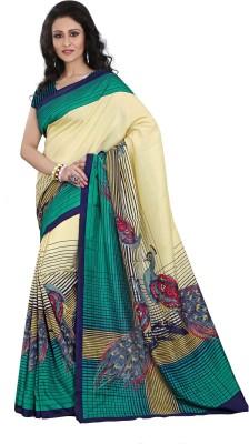 Ethnic Andaaz Embellished, Self Design, Graphic Print Fashion Art Silk Sari