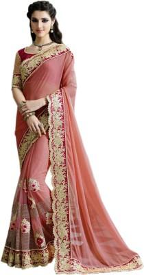 mGm Creation Self Design Fashion Net, Lycra Sari