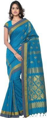 MINAXI Striped Chettinadu Cotton Sari