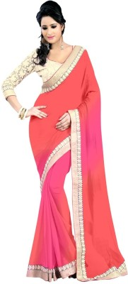 Fabfuniya Embriodered Bollywood Handloom Georgette Sari