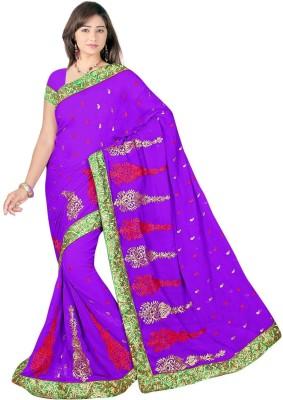 Chinco Self Design Bollywood Chiffon Sari