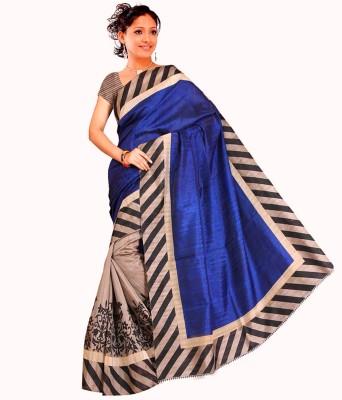 Gd Retails Self Design, Floral Print, Striped, Printed Bollywood Banarasi Silk Sari