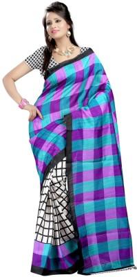 Sanjana2SwarupaFashion Checkered Fashion Art Silk Sari