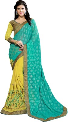 Chaand Embriodered Fashion Pure Georgette Sari