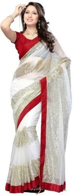 Krishna Ki Leela Embriodered Fashion Handloom Net Sari