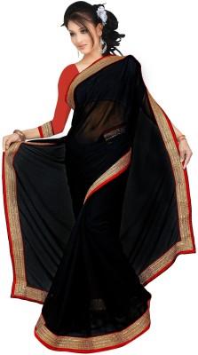 Karan Fashion Self Design, Solid Bollywood Georgette Sari