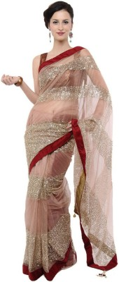 Touch Fashion Self Design Bollywood Net Sari