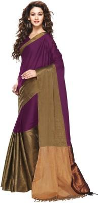 Beautara Plain Bollywood Cotton Sari