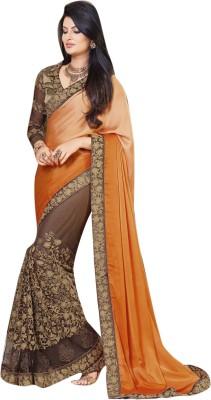 Lajo Printed Bollywood Satin, Net Sari