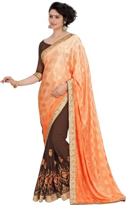 The Fashion World Embriodered Assam Silk Jacquard Sari