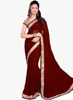 arvm sarees Solid Bollywood Georgette Sari