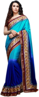 Meher Fashions Embriodered Bollywood Synthetic Chiffon Sari