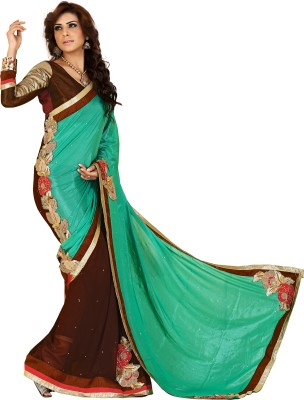 Vidhaan Embriodered Bollywood Art Silk, Georgette Sari