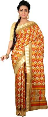 Womilo Floral Print Murshidabad Silk Sari