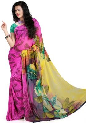 Majestic Silk Printed Fashion Georgette Sari
