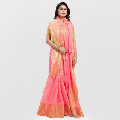 SARNGIN BOUTIQUE Embellished Kanjivaram Silk, Silk Cotton Blend Saree(Multicolor) at flipkart