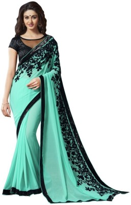 T Zone Fashion Embriodered Bollywood Georgette Sari