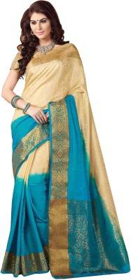 Rajshri Fashions Plain Banarasi Silk, Art Silk, Banarasi Silk Sari