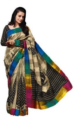 Shoppingover Printed Bhagalpuri Cotton Sari