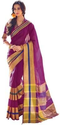 Mukesh Striped Fashion Handloom Cotton Sari